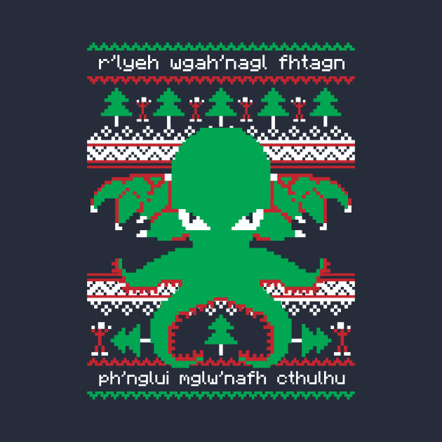 Cthulhu Cultist Ugly Christmas Sweater