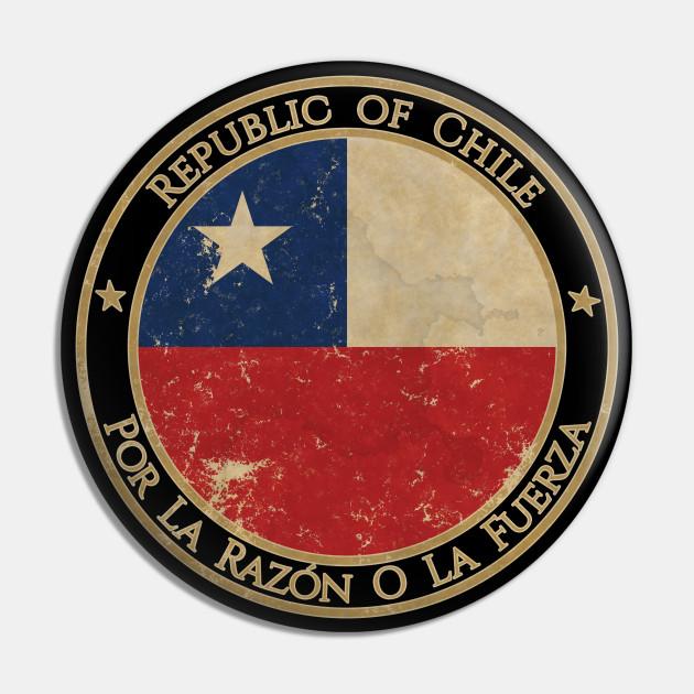 Vintage Republic of Chile USA South America United States Flag - Chile -  Pin | TeePublic