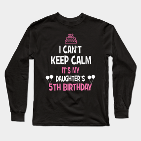 b2db51fca Main Tag 5th Birthday Girl Long Sleeve T-Shirts
