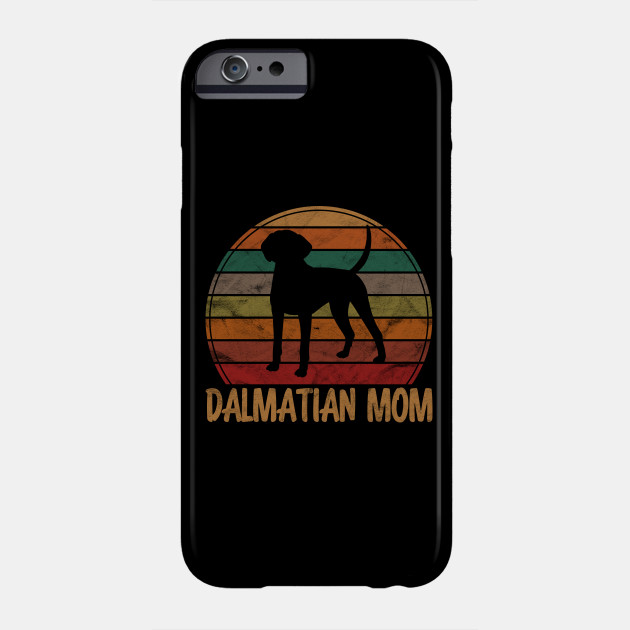 Retro Dalmatian Mom Gift Firehouse Dog Owner Mother Pet Mama Phone Case