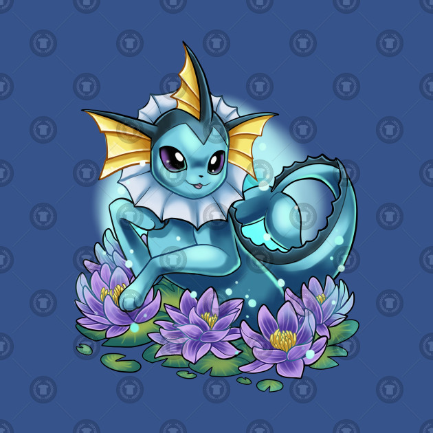 Bubble jet fox and water lilies