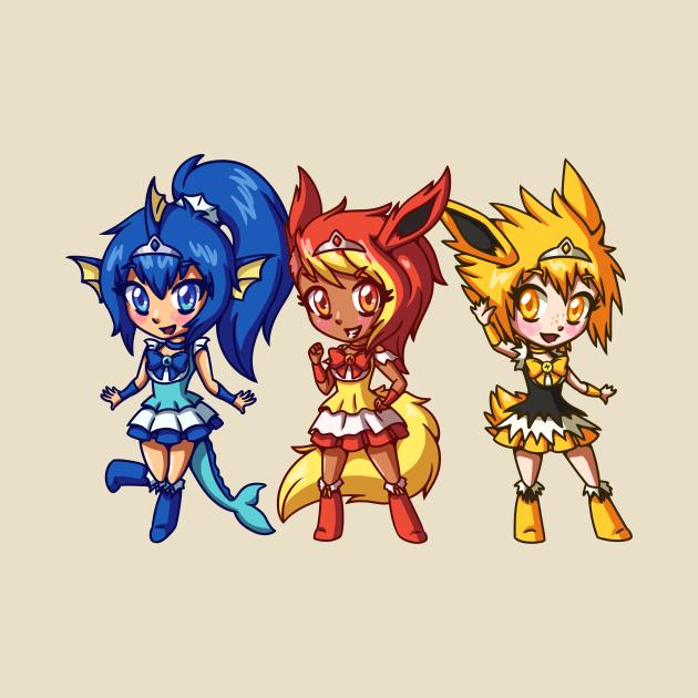 Eeveelution Magical Girl Squad Chibis