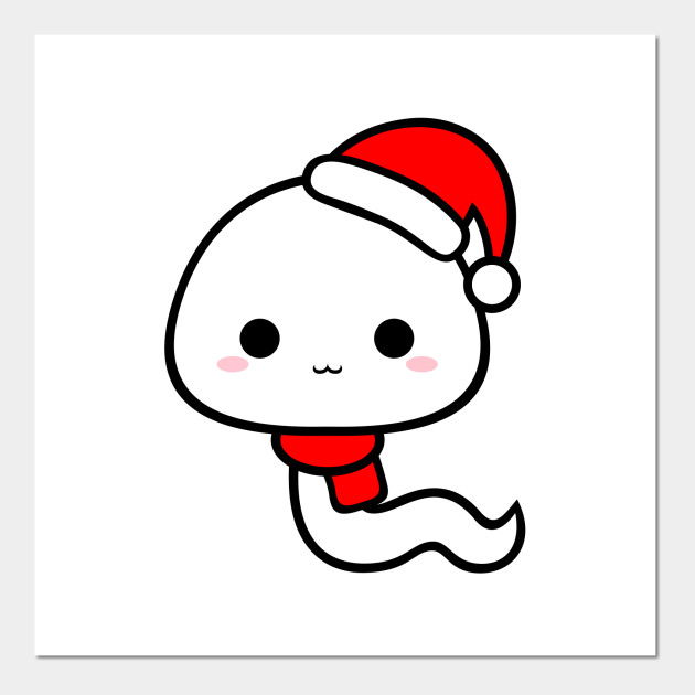 Cute Kawaii Sperm Wear Santa Hat