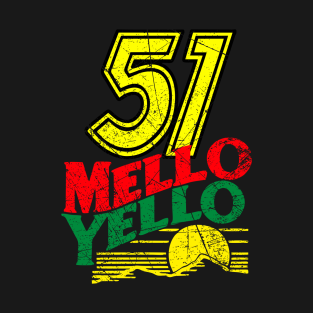 51 MELLO YELLO - DAYS OF THUNDER - DISTRESSED t-shirts