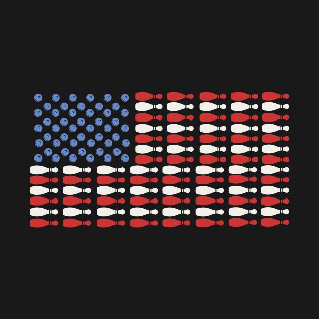 American Flag Bowling Shirt Bowler Gifts For Bowling Team