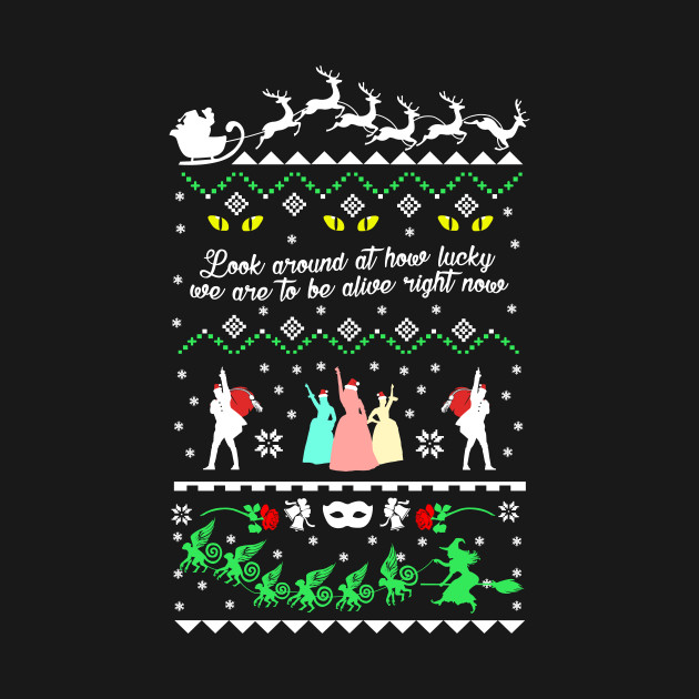 Broadway Musicals Ugly Christmas Design