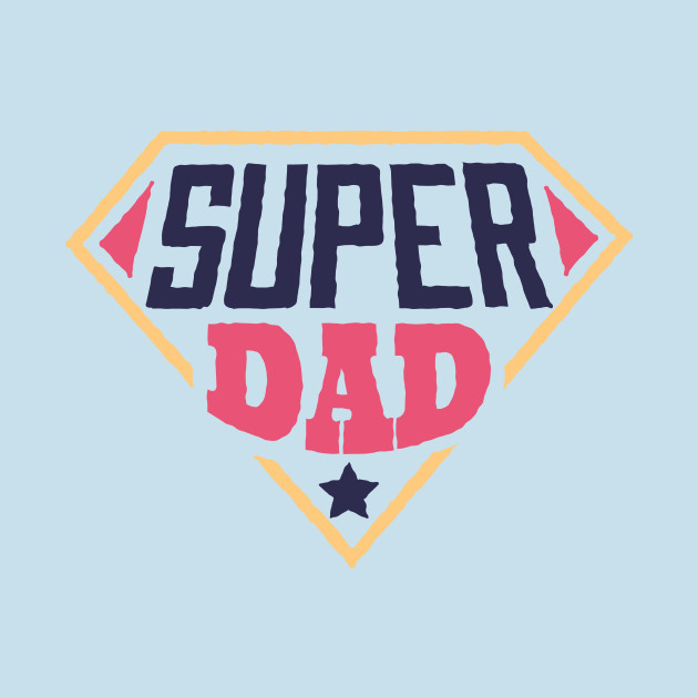 Premium Vector | Super dad text with mustache on red