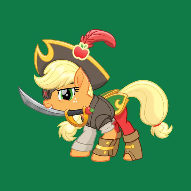 my little pony pirate applejack my little pony t shirt teepublic