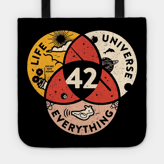 42 The Answer To Life The Universe And Everything Vintage Tshirt Funny Gifts