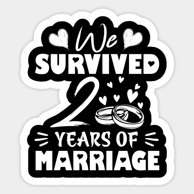 Survived 2 Years Marriage Wedding Anniversary 2nd Wedding Anniversary Gifts Aufkleber Teepublic De