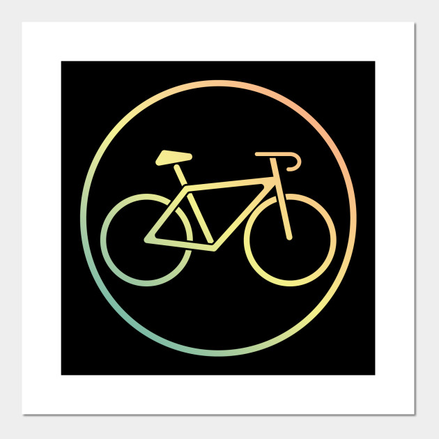 Colorful Classic Road Bike Badge Bicycle Sports Active Outdoor Lifestyle Cycling Tournament Design Gift Idea