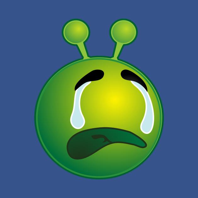 Funny Alien Monster ET Extraterrestrial Martian Green Man Emoji for Women, Men and Kids 18
