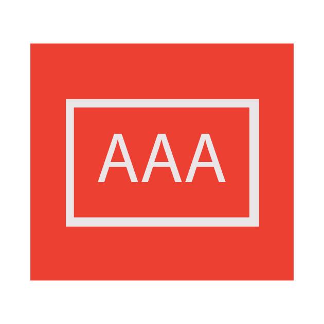 Triple Aaa Number >> Aaa Triple A Letters T Shirt Teepublic