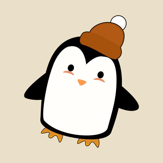 Kawaii Penguin with a beanie