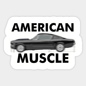 American Muscle Car Stickers Teepublic