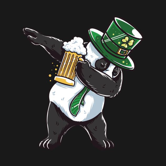 Funny St Patricks day Panda shirt - perfect outfit