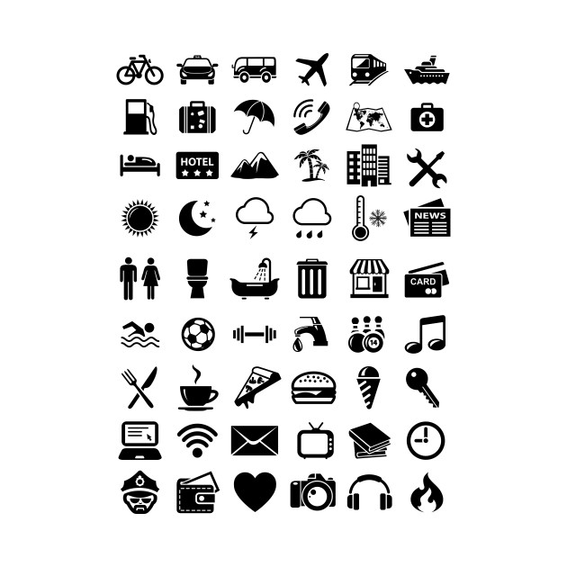 Travel Icons Language