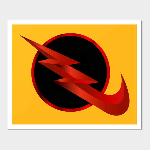 Reverse Flash Nike Logo No Shadow - Reverse Flash - Wall Art | TeePublic