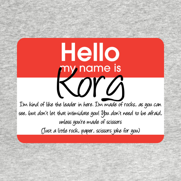 Hello My Name Is Korg