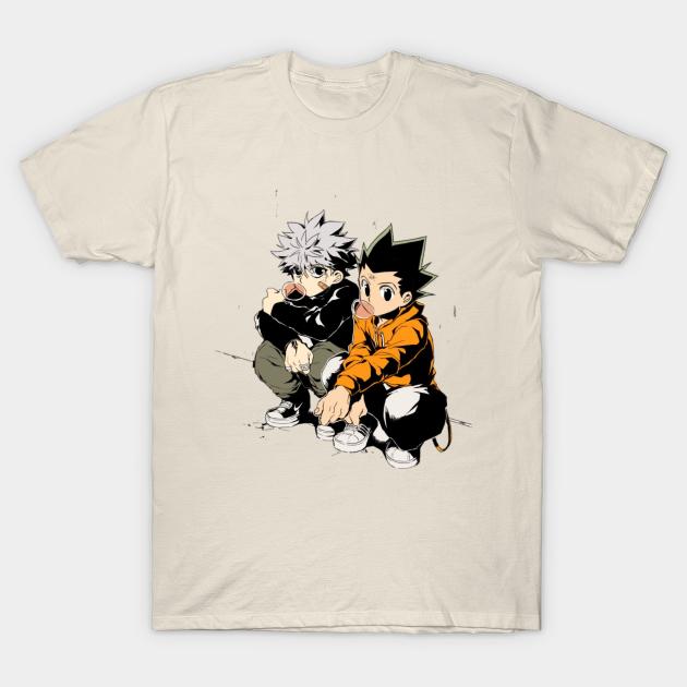 Hunter X Hunter Anime Killua Eye Hisoka Gon Killua drôle tee-shirt homme coton