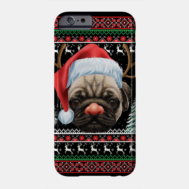 Pug Dog Ugly Christmas Sweater Phone Case
