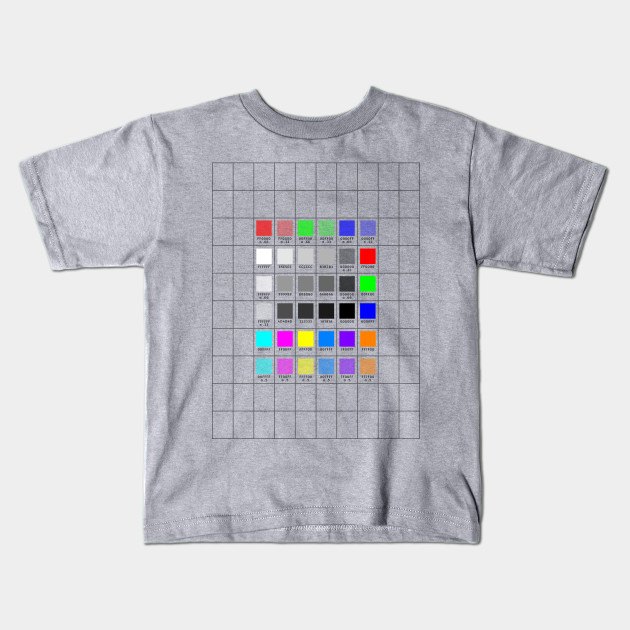 Size & Color Swatch Template - Template - Kids T-Shirt | TeePublic