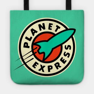 PLANET, BAG Planet Express Cartoon Funny Futurama Top Inspired Cotton Tote