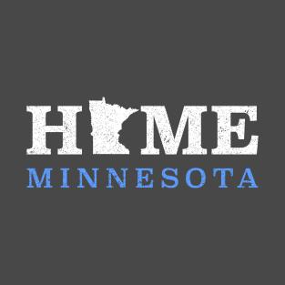 3a246168 Minnesota Home MN State Design T-Shirt
