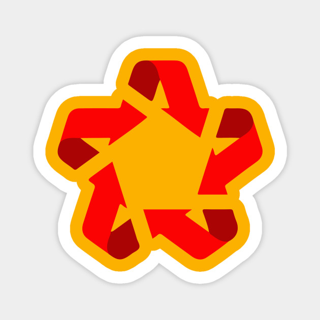 Recycle Red Star Symbol Of New Communism Era Europe Sticker