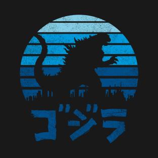 Kaiju Sun Set t-shirts