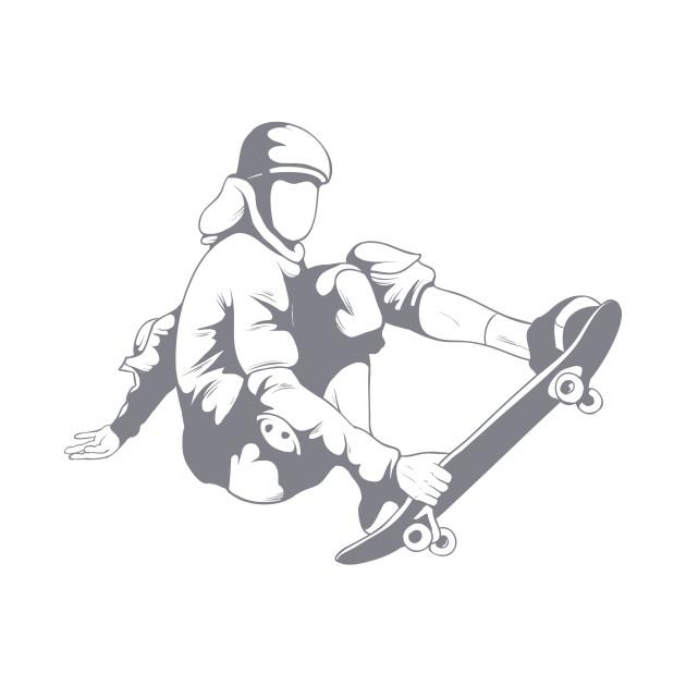 Fly The Board Hoodie Skater Jump Tees Skateboard T-Shirt