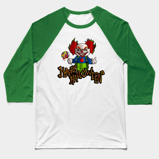 It Halloween Evil clown , Happy Halloween with Clown , Happy Halloween illustration PNG clipart  Baseball T-Shirt