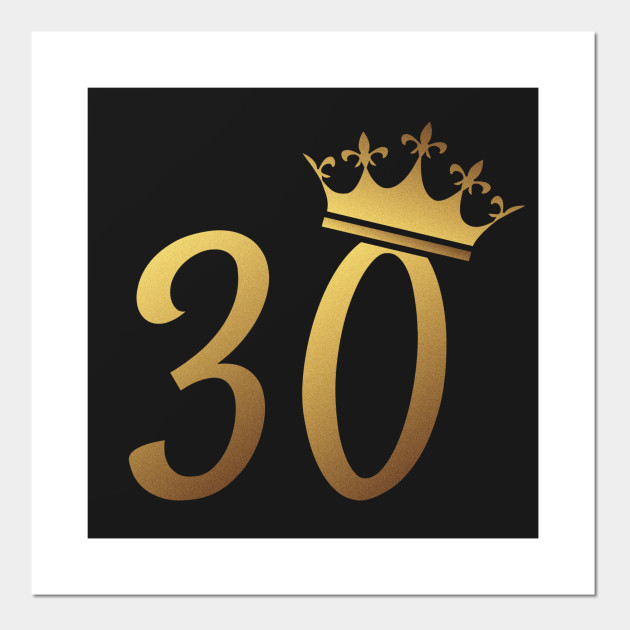 30th Birthday Queen 30 Year Old Girl Gold Posters And Art Prints