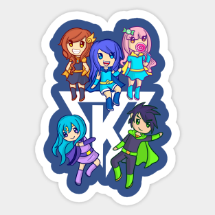 Funneh Roblox Stickers Teepublic - funneh and the krew roblox games