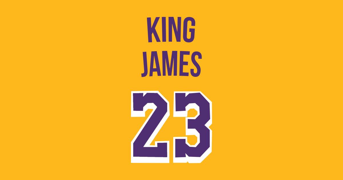 sale retailer d2b88 df9f6 Lebron James 'King James' Nickname Jersey - Los Angeles Lakers by  xavierjfong