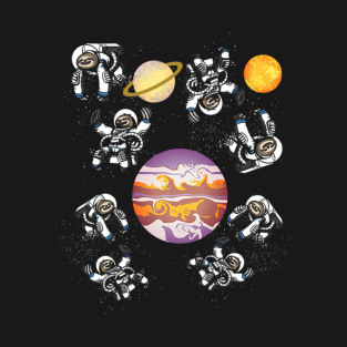 a86ac4359 Galaxy Sloth Astronaut Funny Sloth Lovers Gift T-Shirt
