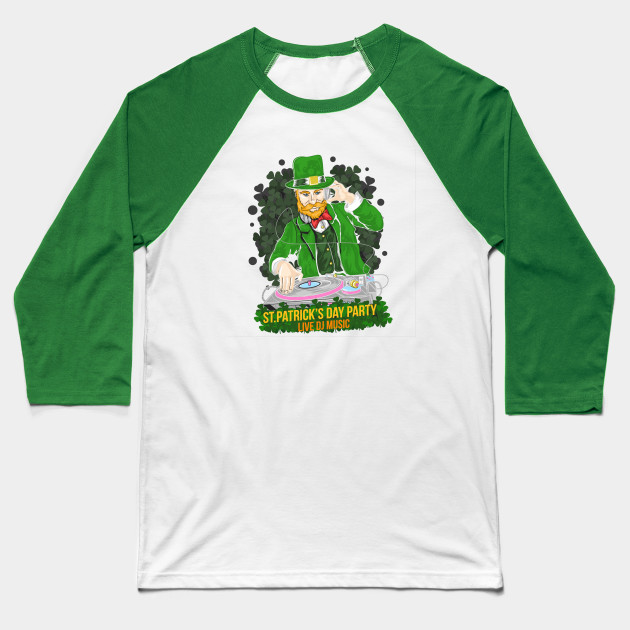 St.patrick's day dj party Baseball T-Shirt