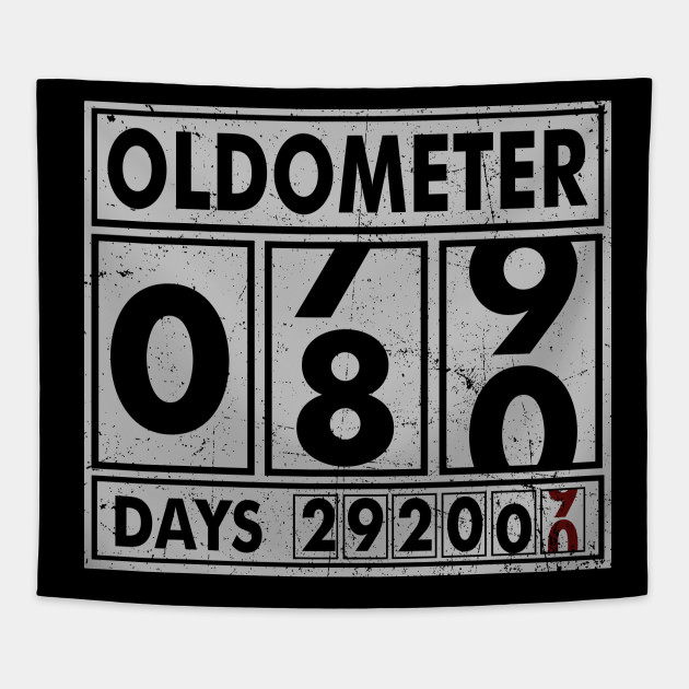 OLDOMETER 80 Years Old Made In 1938 80th Birthday Tapestry