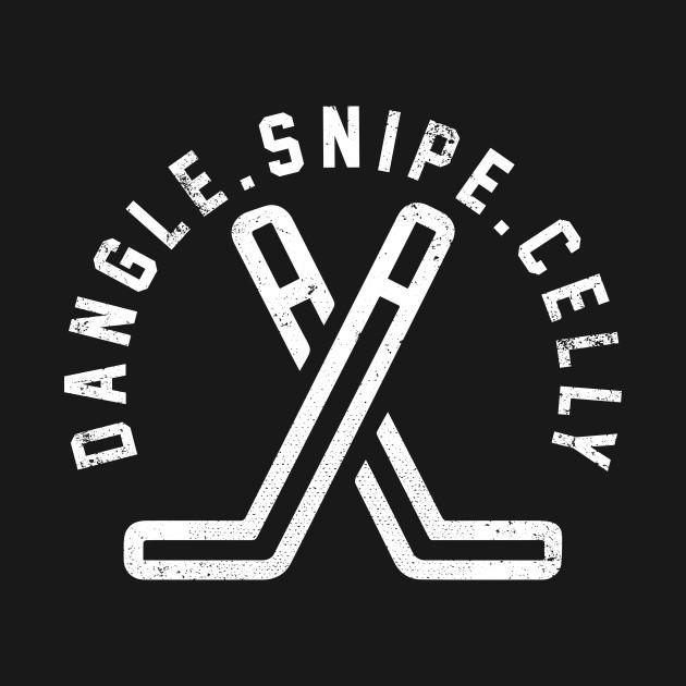 Dangle Snipe Celly Hockey Vintage Retro Shirt