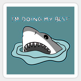 a0d290243 Cartoon Shark Stickers | TeePublic