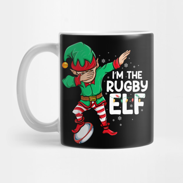 I'm The Rugby Elf Christmas Elf Costume dab dance elf Xmas Mug