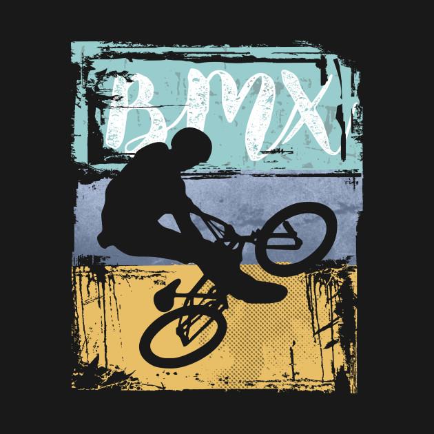 BMX Tee - Vintage Retro BMX Bike Rider