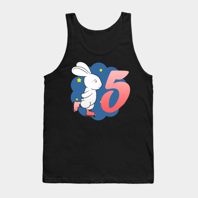 5 Birthday girl Hase Tank Top