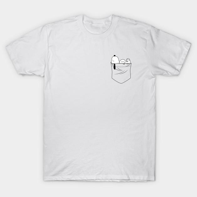 423707f7210 POCKET SNOOPY - Snoopy - T-Shirt