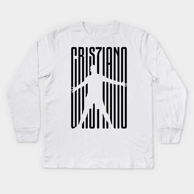 8a890c75a73 cr7 juve - Cristiano Ronaldo - Kids Long Sleeve T-Shirt