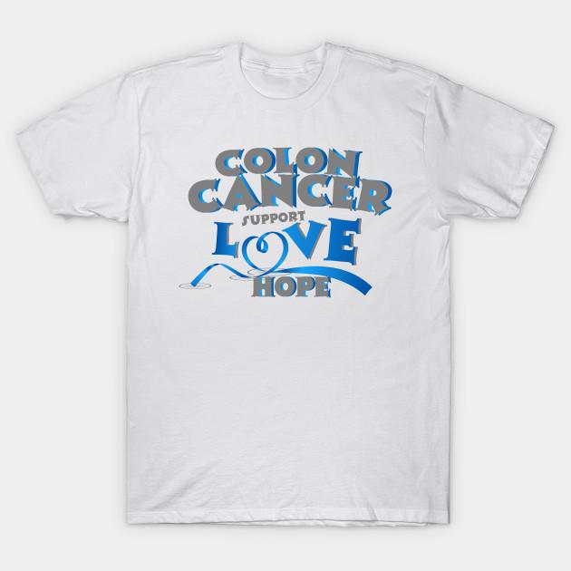 Hope Support Colon Cancer Awareness Gift Awareness Gift T Shirt Teepublic