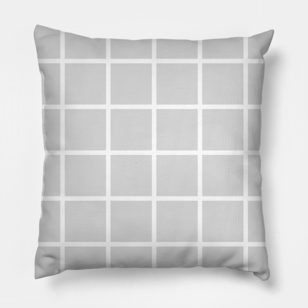 Grey with White Grid