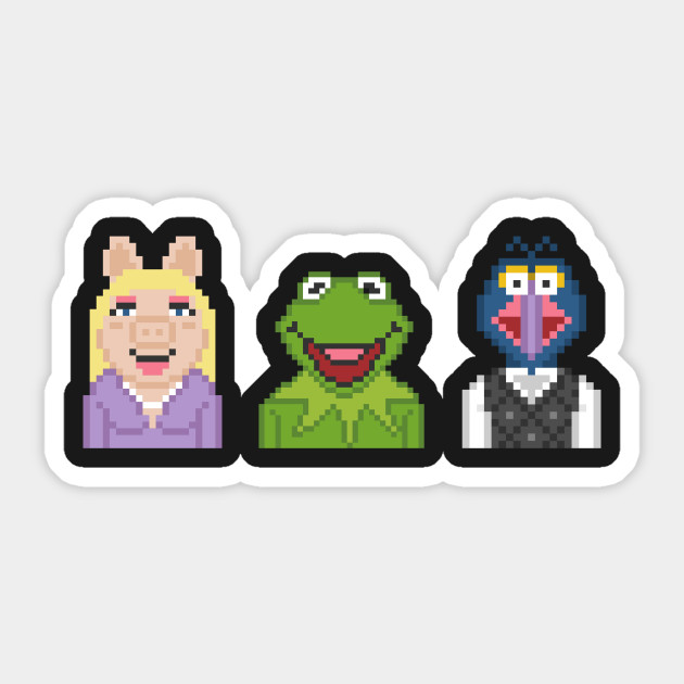 Kermit Miss Piggy And Gonzo The Muppets Pixel
