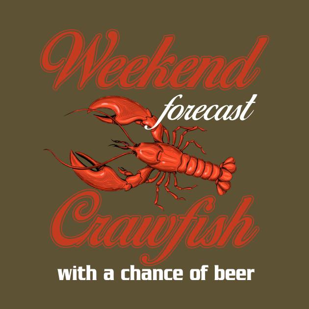 cdaf7224 Crawfish Shirt Cajun Boil And Beer - Crawfish - T-Shirt   TeePublic