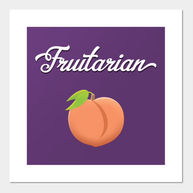 Fruitarian Eat Peach Fruit